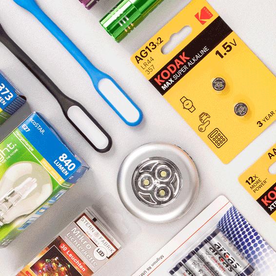 Batterien & Beleuchtung