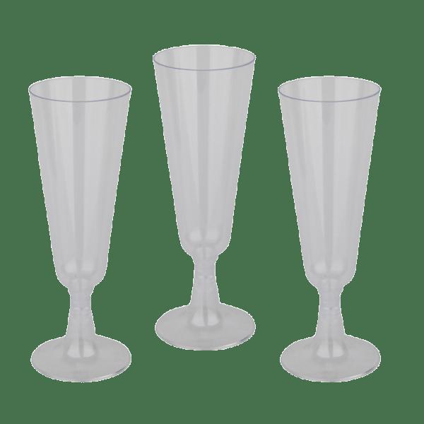 Einweg Sektglas