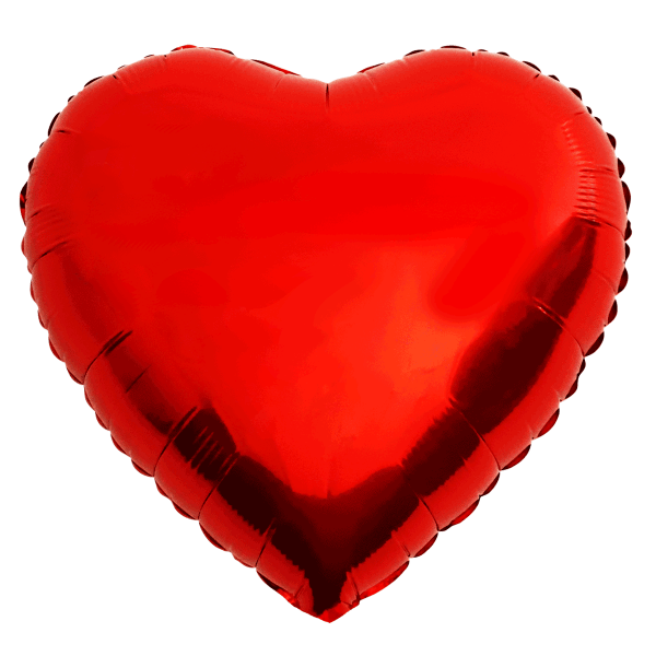 Herzballon rot glänzend